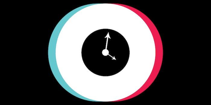 tiktok logo timestamp clock