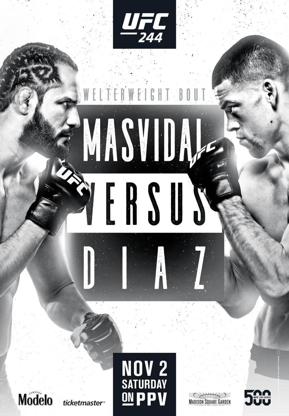 UFC 244 poster Masvidal vs Diaz