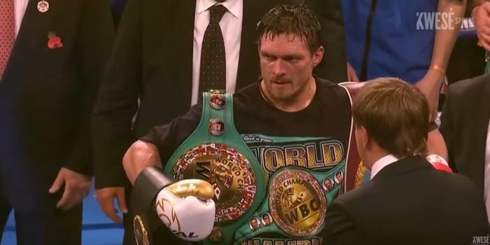 Usyk vs Witherspoon live stream DAZN