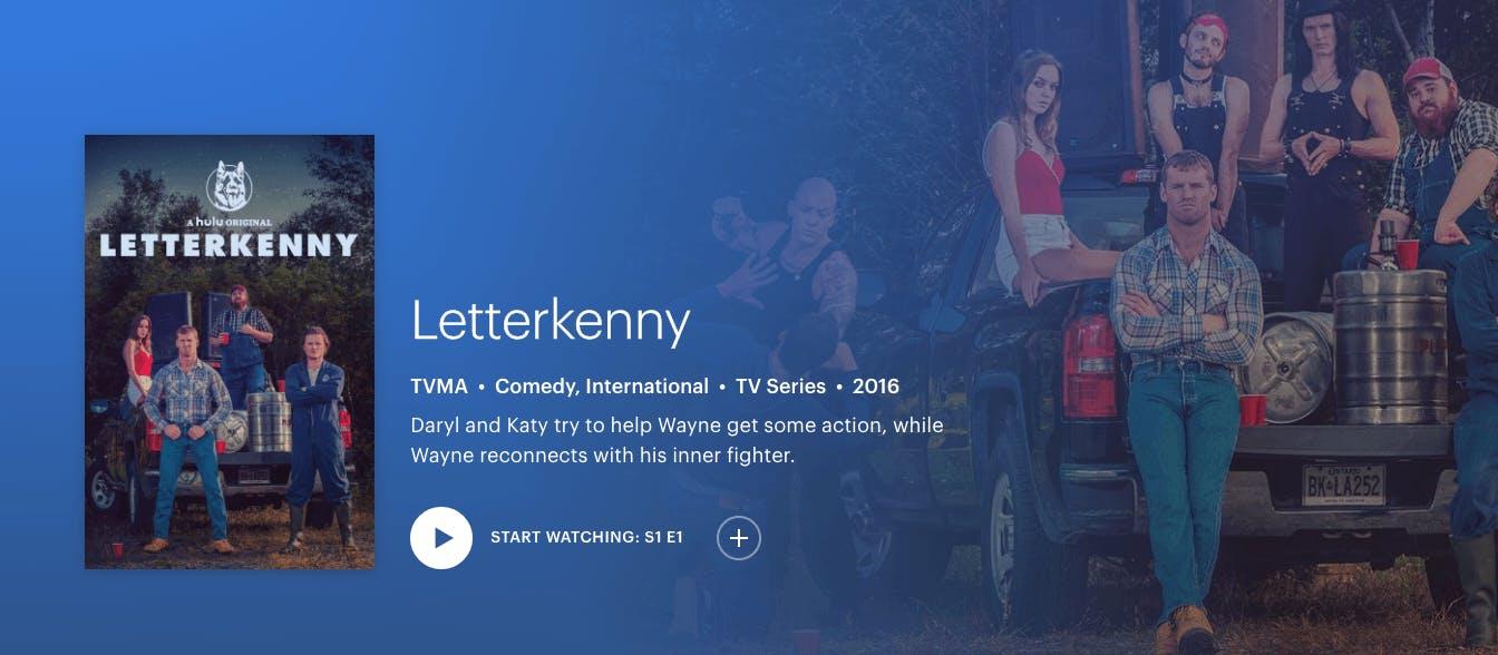 watch Letterkenny season 7 on Hulu