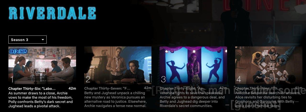 watch riverdale season 4 on Netflix