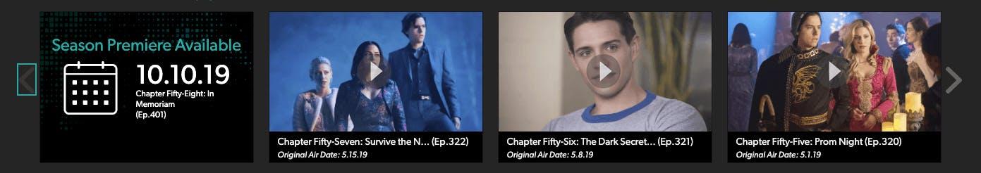 watch riverdale season 4 on The CW