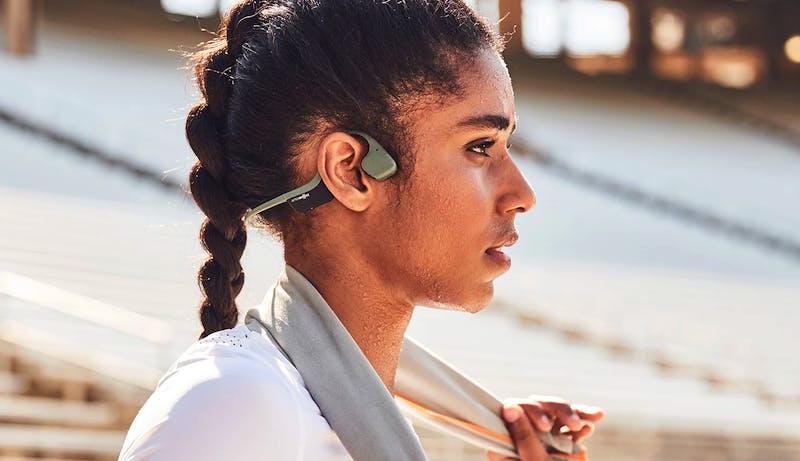 AfterShokz Air lightweight bone conduction headphones