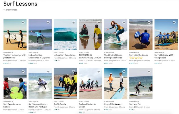 Airbnb Experiences surf lessons