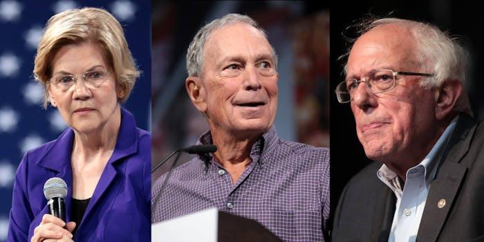Bernie Sanders Michael Bloomberg Elizabeth Warren