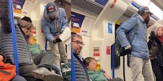 london-underground-anti-semitic-man-jewish-family