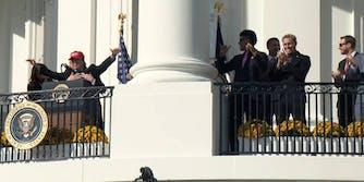 Donald Trump Kurt Suzuki MAGA Hat Nationals White House