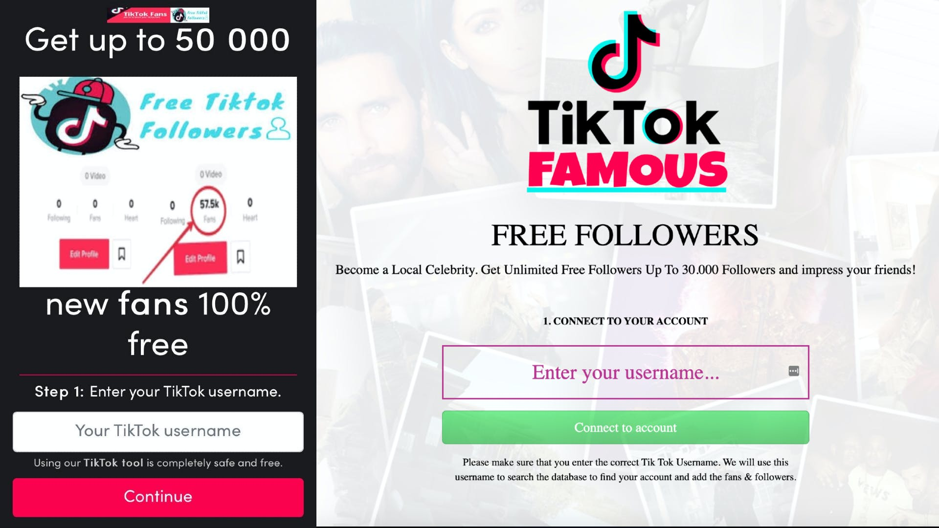how to get free tiktok followers scams