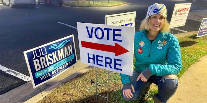 Juli Briskman Election Trump Middle Finger
