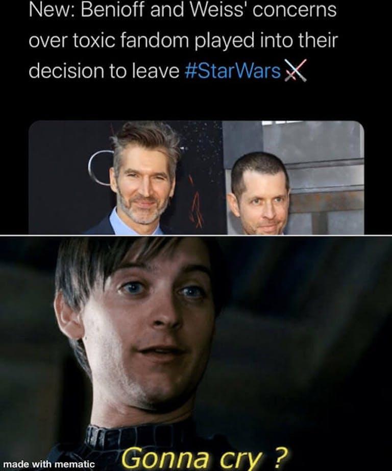 funny Star Wars memes - Benioff Weiss