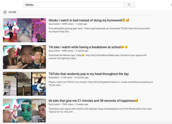 TikTok online - YouTube