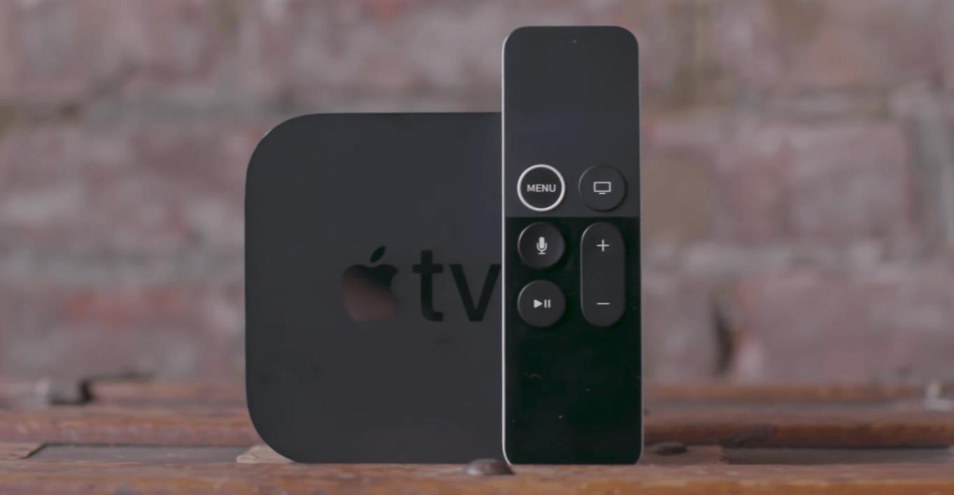 appletv 4k image with remote