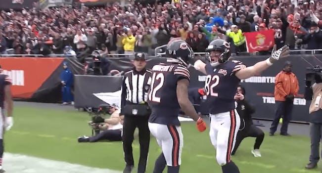 bears touchdown celebration