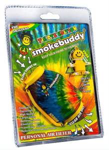 Image features a photo of the tye-dye Smoke Buddy in its original packaging.