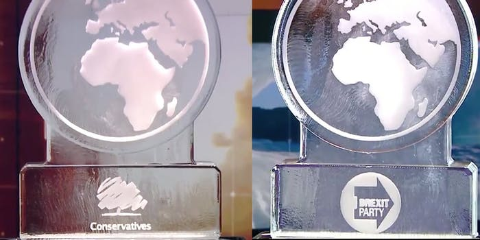 channel 4 ice sculpture climate debate