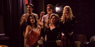 Friends cast clapping