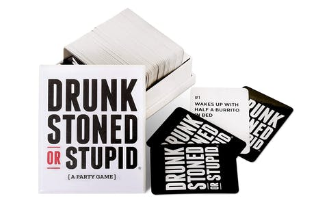 Party card game Drunk, Stoned, or Stupid is a great gift for stoners or potheads that live together