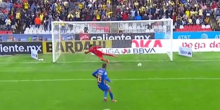 Gignac converting penalty kick