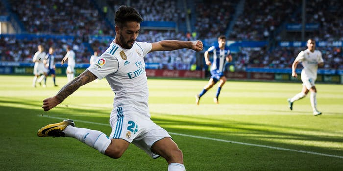 Isco in match action for Real Madrid