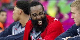 james harden laughing