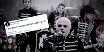 my chemical romance chile tweet