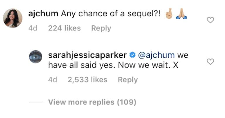 sarah jessica parker hocus pocus sequel