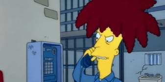 the simpsons sideshow bob prison call