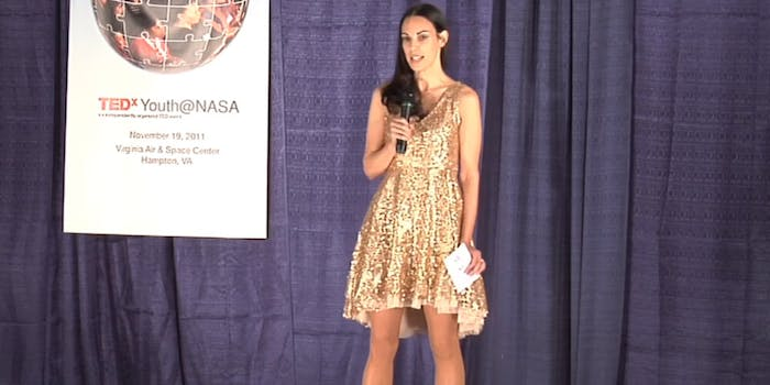sparkly dress nasa