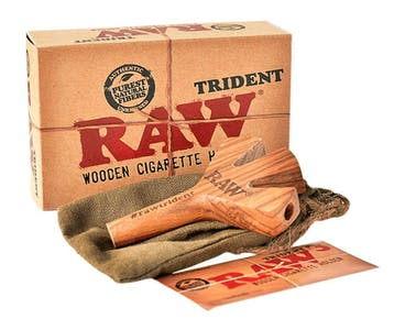 Image of the Raw Triden wooden cigarette holder.