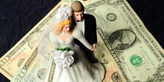 wedding bride donations marketing stunt