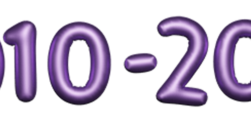 2010-2019 numbers made from balloons
