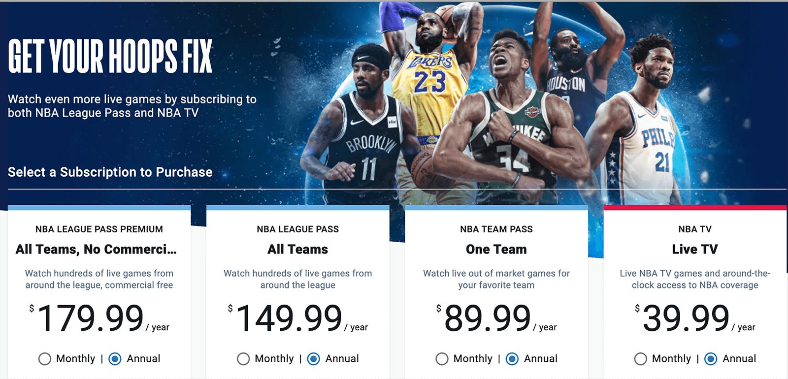 NBA League Pass streaming info
