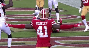 49ers moseley defensive celebration