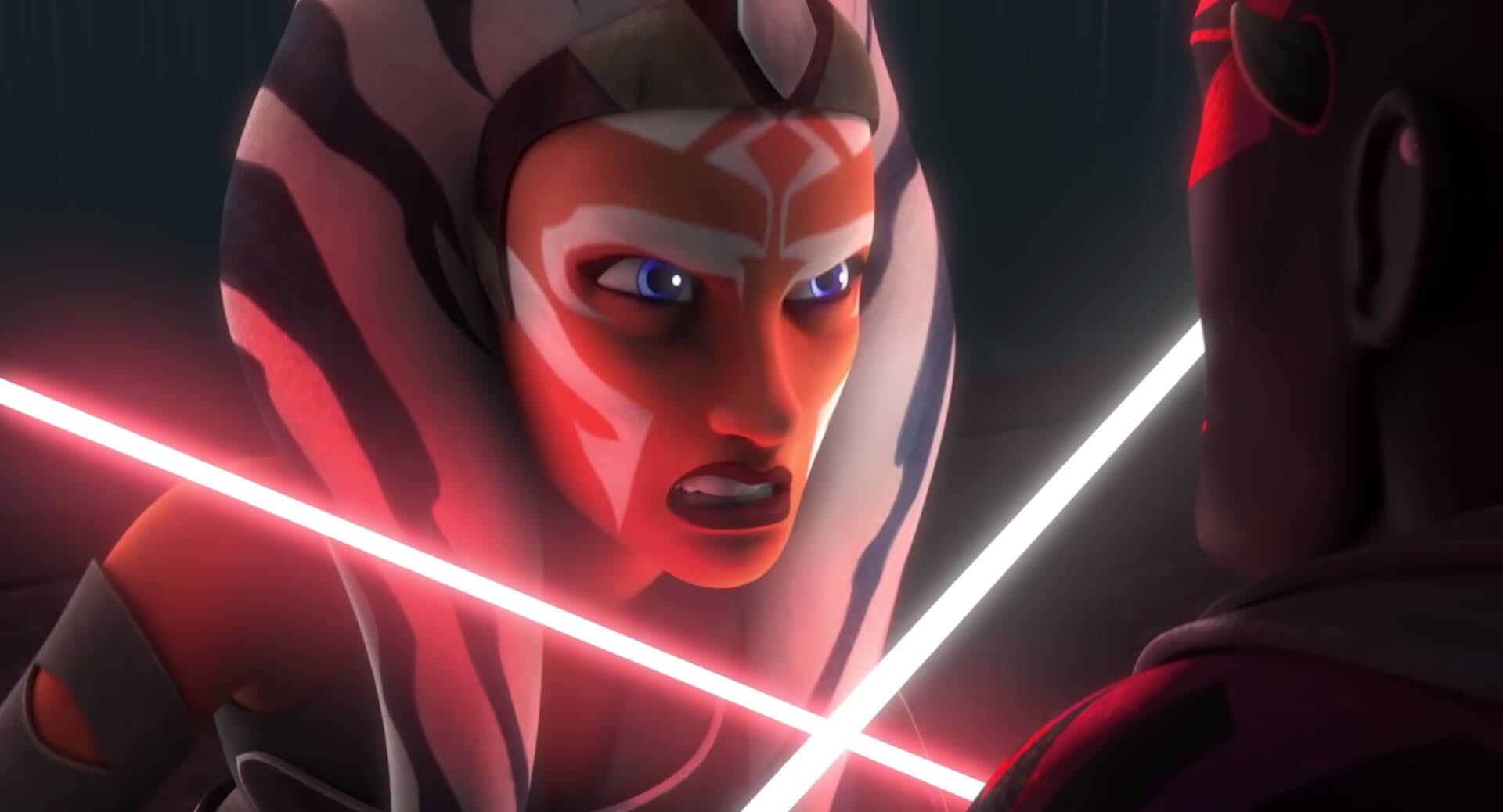 Image of Ahsoka with a lightsaber