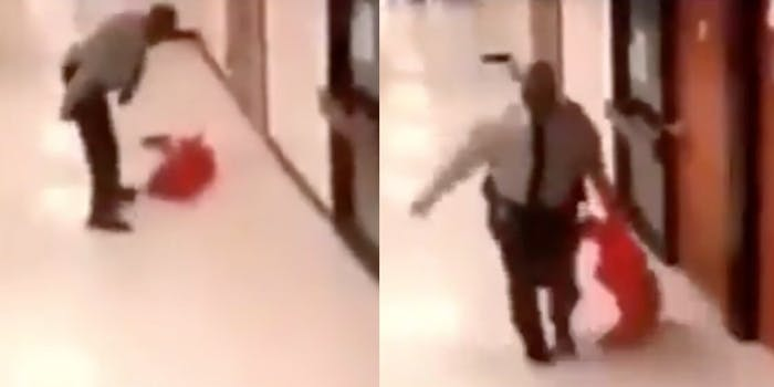Vance county sheriff seen slamming and dragging a child