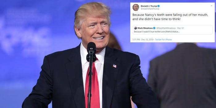 Donald Trump Nancy Pelosi Teeth