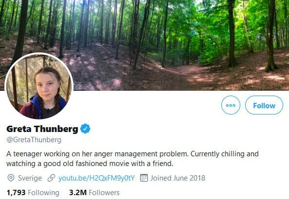 Greta Thunberg Twitter Bio Trump Tweet