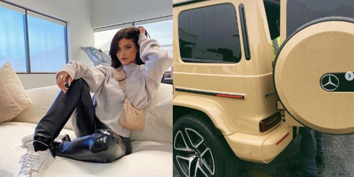 Kylie Jenner G Wagon Instagram