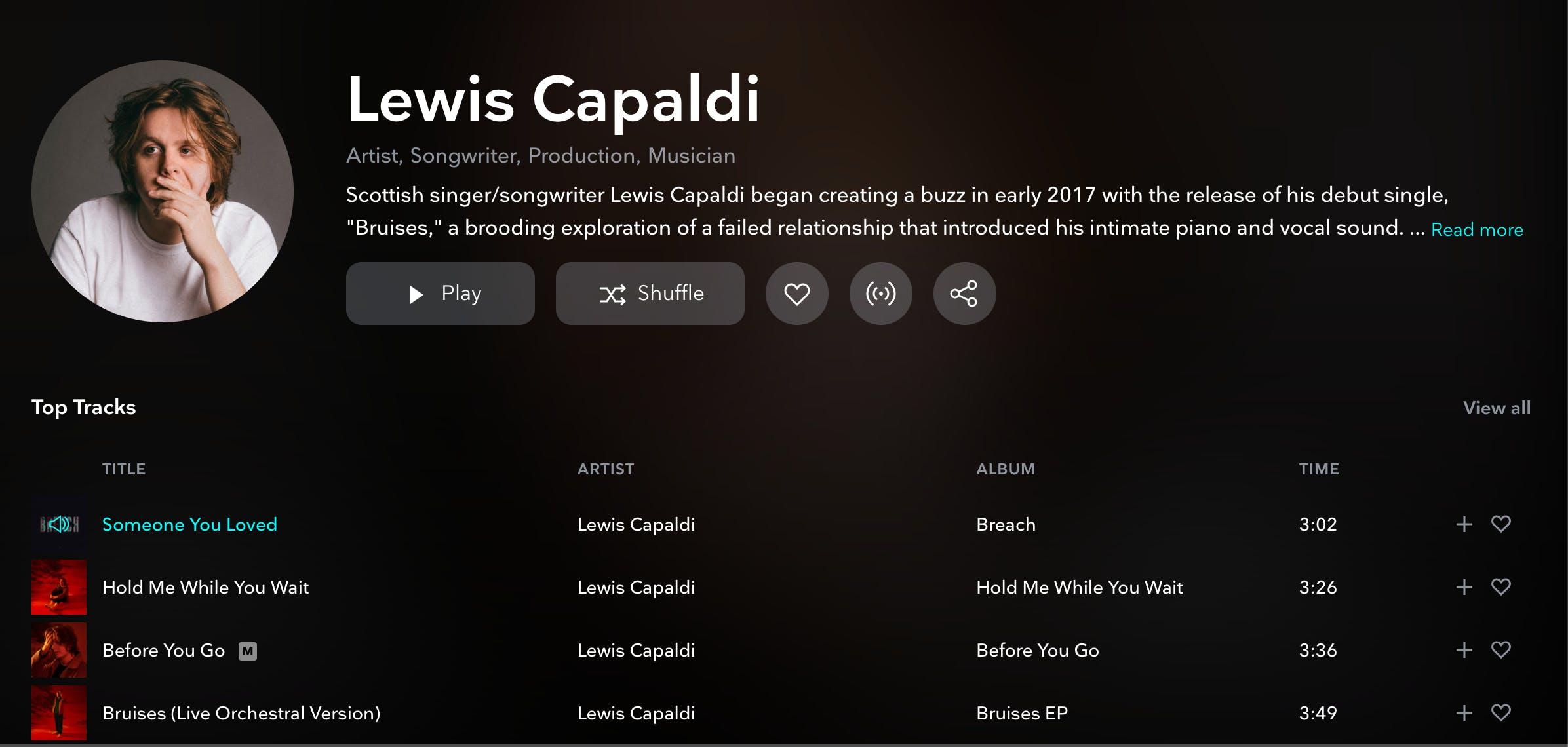 Lewis Capaldi - TIDAL
