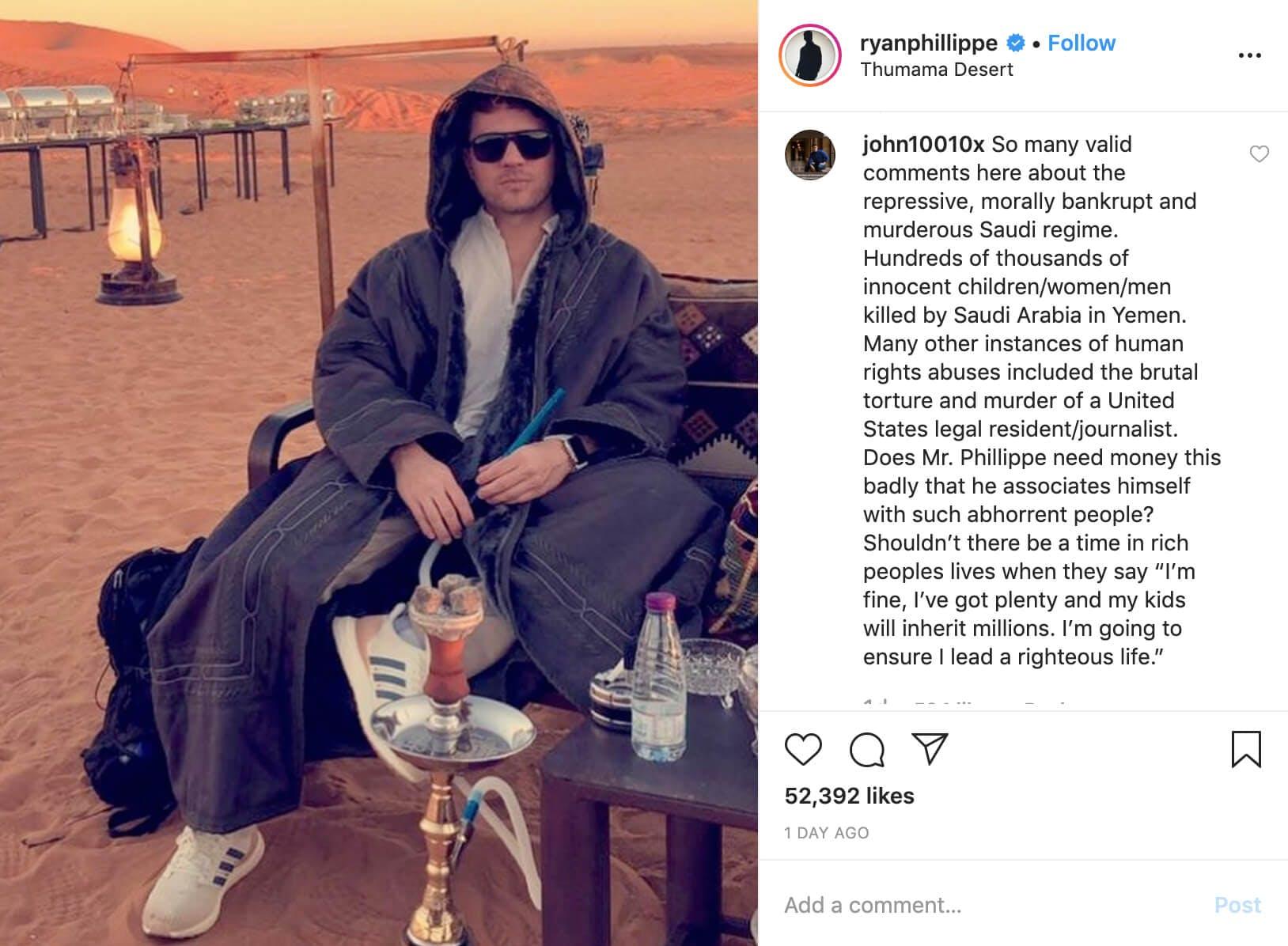 Ryan Phillippe - Saudi Arabia