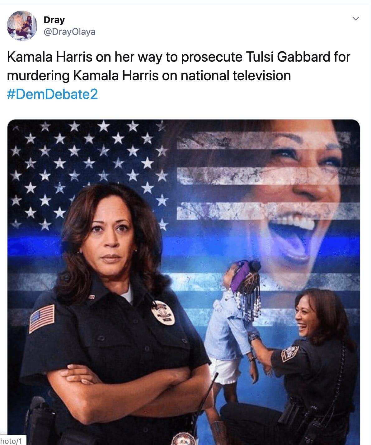 kamala is a cop