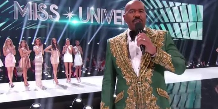 Steve Harvey Miss Colombia 2019 cartel comment