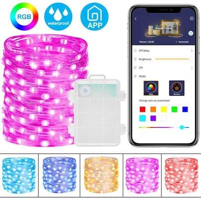 app controlled christmas lights - minger