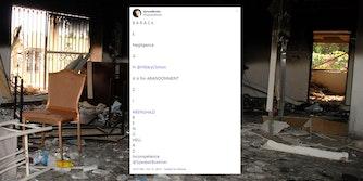 acrostic attempt tweet over Benghazi embassy wreckage