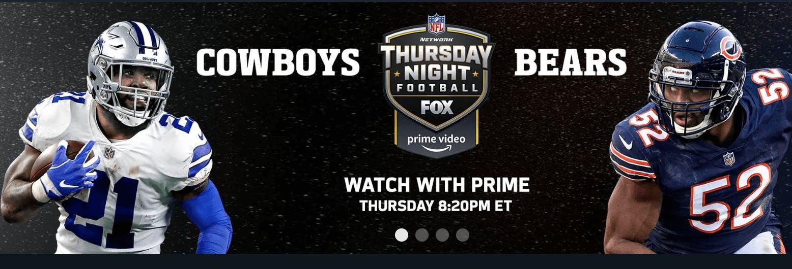 cowboys bears amazon prime streaming nfl