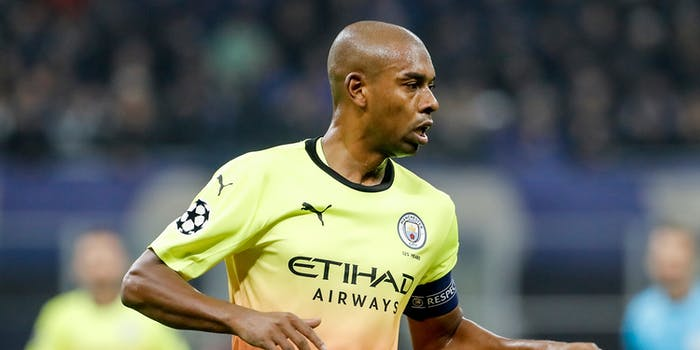 Fernandinho of Manchester City in live game action