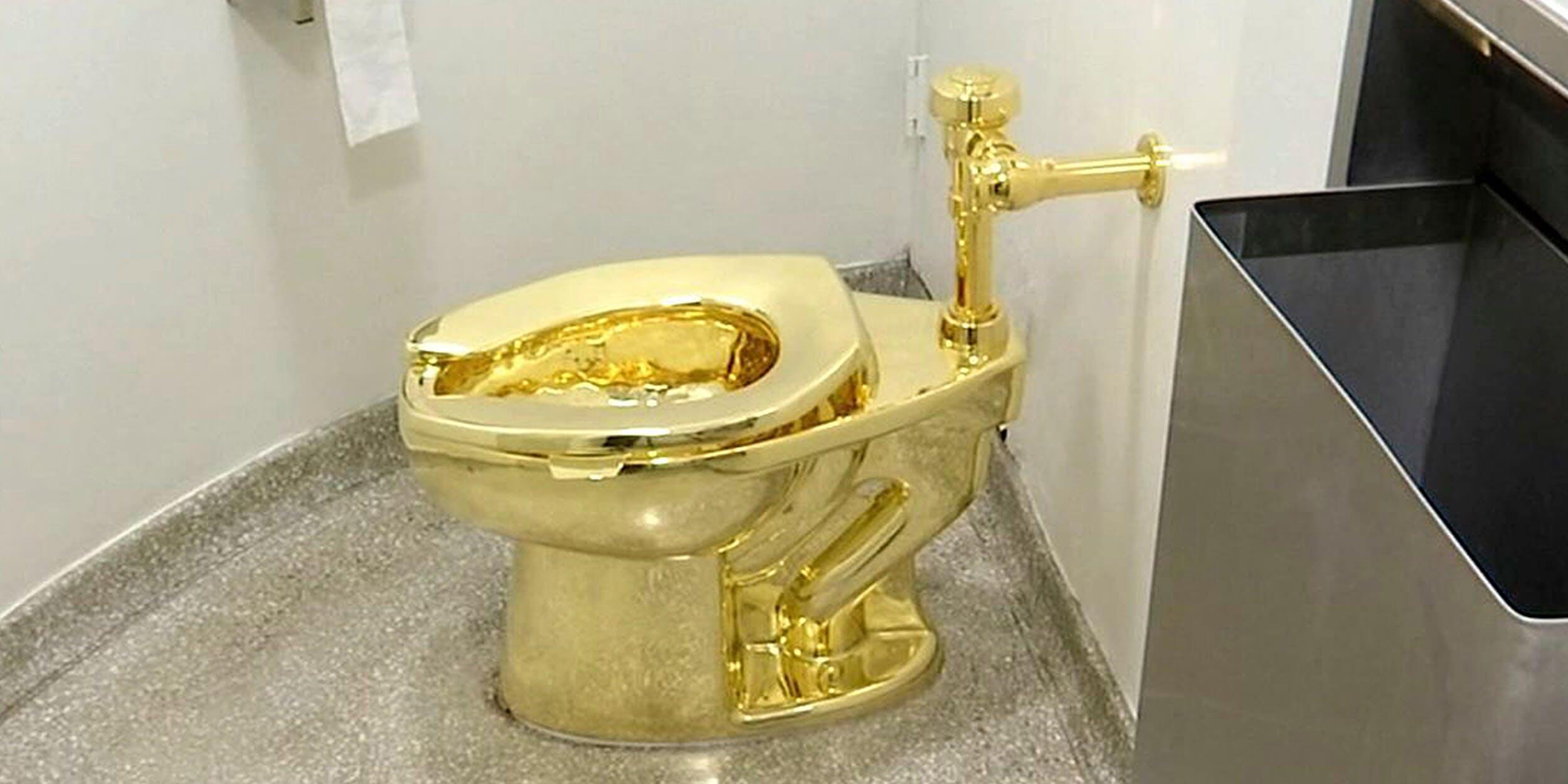 18-karat toilet, titled