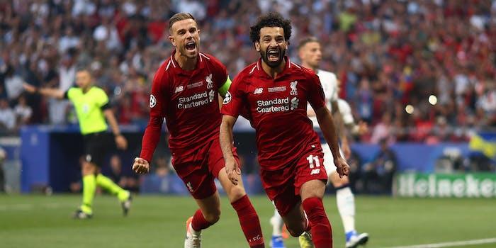 Mo Salah celebrating goal