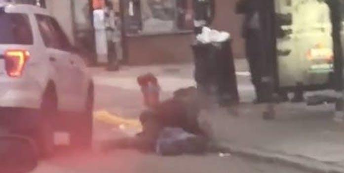 police body slam arrest video