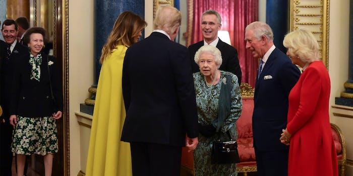 Royal family greets Trumps